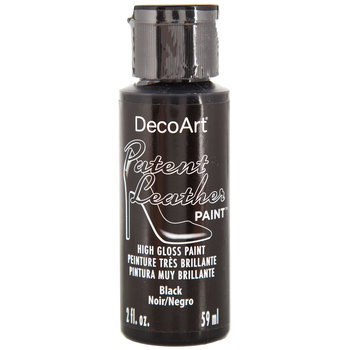 Black DecoArt Patent Leather Paint